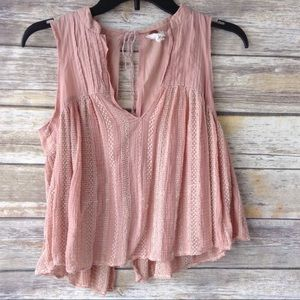 Free People FP blush pink baby doll cami XS